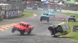 Stadium Super Trucks Matt Mingay Roll Over Crash - Clipsal 500 2016 ...