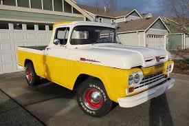 100 59 Ford Truck F100 HOTROD V8 PICKUP TRUCK SHORTBED STYLESIDE CLASSIC YELLOWWHITE