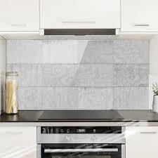spritzschutz glas beton ziegeloptik grau quer 2 1