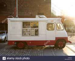 Ice Cream Truck At City Park On A Summer Afternoon Stock Photo ...