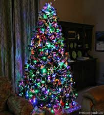 75 Ft Slim Christmas Tree by 75 Ft Slim Flocked Vail Christmas Tree With Multicolor G40 And