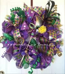 Burlap Mardi Gras Door Decorations by 21 Best Mardi Gras Wreaths Images On Pinterest Mardi Gras Wreath