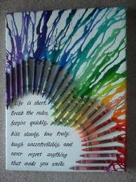 How To DIY Melted Crayon Canvas Art