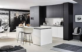 skåp till tak küchendesign haus küche schwarz weiß