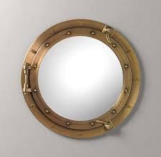 porthole mirror mirrors restoration hardware baby child