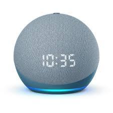 b085m6n2xm echo dot 4 generation mit uhr bluetooth mikrofon blaugrau