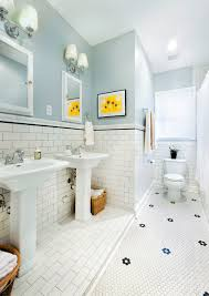 1930s bathroom updated for 21st century traditional bathroom