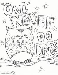 Living Drug Free Coloring Page Picture