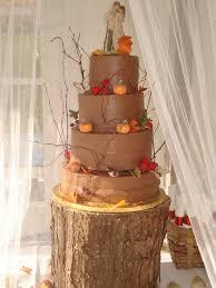 Fall Rustic Wedding Cake
