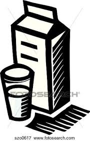 Stock Illustration A carton of milk in black and white Fotosearch Search EPS