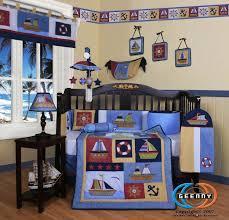 Baby Crib Bedding Sets For Boys by Amazon Com Geenny Boutique 13 Piece Crib Bedding Set Sailor