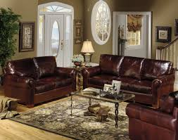 Classic Western Living Room Furniture Design By Dark Brown Leather Sofa Sets Decals Cowboy For