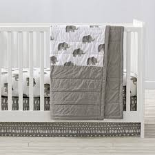 wild excursion elephant crib bedding the land of nod