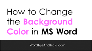 Ms Word Background Color Change 1024x576