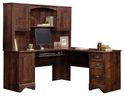 Sauder Edge Water Computer Desk With Hutch by Sauder Palladia Vintage Oak L Shaped Computer Desk 420606 Desks
