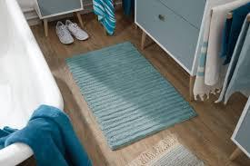 tom tailor home blue cotton stripes badteppich