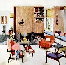 1950s Home Decor 50s Vintage Interiors Modern Mid Century Design Living Room House
