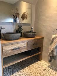 houten badkamermeubel badkamer inspiratie salledebain