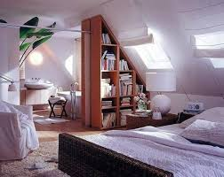 M Low Ceiling Attic Bedroom Ideas Lamp Standing Gray Drawer Desk White Rectangle Laminated Bed Red Wall Paint 625 X 498
