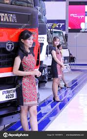 100 Girls On Trucks Beautiful Sales Promotion Stock Editorial Photo