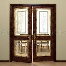 Free Rich Interior Door With Glass Inserts 3d Model