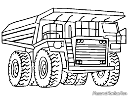 Monster Truck Coloring Pages Construction Truck Coloring Pag