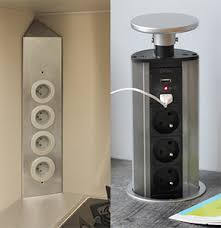 prise electrique pour cuisine agréable prise electrique escamotable plan de travail 10 bloc