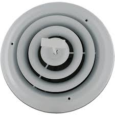 Ceiling Ac Vent Deflectors by 6 Inch White Round Ceiling Vent With Damper