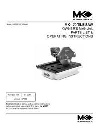 exploded view parts list mk diamond products
