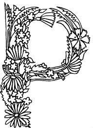 Alphabet Flowers Letter P Coloring Pages