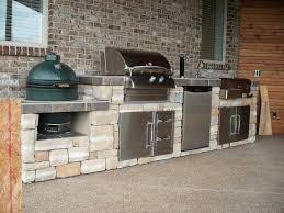 Big Green Egg And Grill Island Outdoor Kitchen Solutions Available At Infused