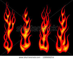 Set Of Long Tribal Fire Flames For Tattoo Drawing As A Logo Jpeg Version Also