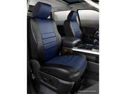 FIA LeatherLite Custom Seat Cover - Blue/Black - Front - Bucket ...