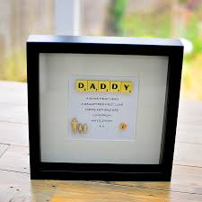Printable Individual Scrabble Tiles by Personalised Scrabbly Daddy Frame Fathers Day Present Scrabble