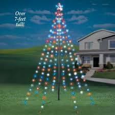 Image Is Loading 7 Ft Tall Outdoor Garden String Light Christmas