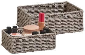 zeller present aufbewahrungskorb aufbewahrungskörbchen set 2 st ideal fürs bad wohnzimmer oder büro
