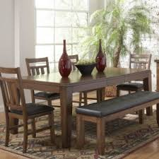Casual Dining Room Design With Butterfly Leaf Rectangle Table Dark Brown Leather