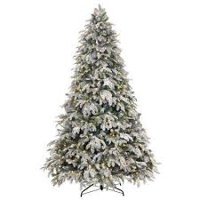 Pre Lit LED Flocked Mixed Pine Artificial Christmas Tree With 500 Warm