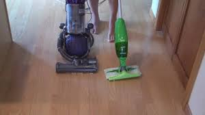 Swiffer Vacuum Hardwood Floors by Dyson Dc25 Vs A Swiffer Youtube