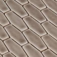 antique white elongated hexagon glazed ceramic mosaic wall tile