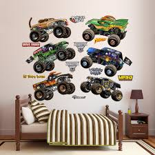 100 Monster Truck Wall Decals Fathead Feld Cartoon Jam S Peel And Stick Decal