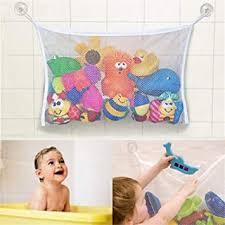 badewannenspielzeug aufbewahrung badespielzeug netz mit 2 ultra strong hooked saugnäpfe großes bad spielzeug netz für badewanne spielzeugnetz