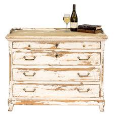French Country Chest Of Drawers Heavily Distressed White Finish Ships Free New