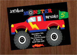 100 Truck Birthday Invitations Monster Party City Melaniekannokadacom