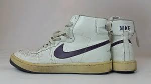 Vintage Nike Legend Purple Swoosh Basketball Leather Hi Top Sneakers 13