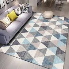 us 31 99 sonst grau blau creme weiß dreieck geometrische 3d print non slip mikrofaser wohnzimmer dekorative moderne waschbar bereich teppich