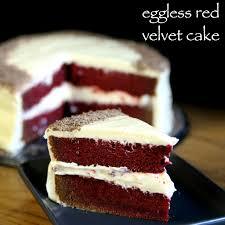 eggless moist velvet cake recipe