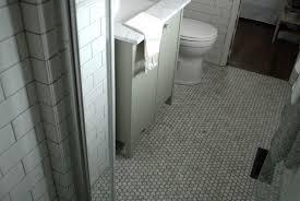 marble hex tile floor design ideas