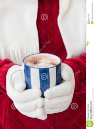 woman in warm gloves holding cup of chocolate stock images