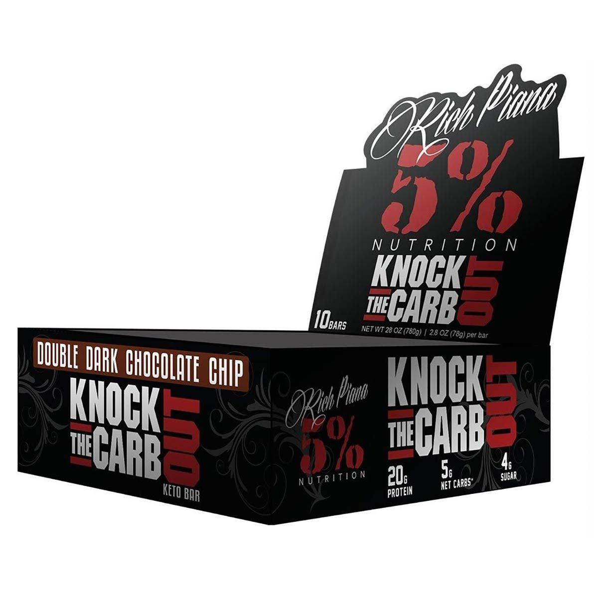 5% Nutrition Knock The Carb Out 10/Box - Chocolate Chip Cookie Dough